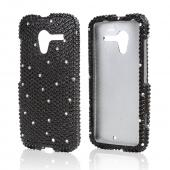 Black Gems w/ White Bling Hard Case for Motorola Moto X