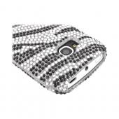 Nokia Lumia 710 Bling Hard Case - Black/ Silver Zebra
