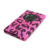 Black Leopard Gems on Pink Bling Hard Case for Nokia Lumia 1020