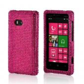Hot Pink Gems Bling Hard Case for Nokia Lumia 810