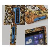 Black/ Brown Cheetah Bling Hard Case for Nokia Lumia 920