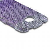 Purple/ Lavender Waterfall on Silver Gems Bling Hard Case for Pantech Marauder