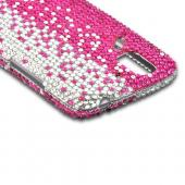 Hot Pink/ Silver Gems Bling Hard Case for Pantech Flex