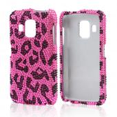 Pink/ Black Leopard Bling Hard Case for Pantech Perception