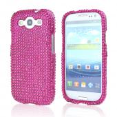 Samsung Galaxy S3 Bling Hard Case - Hot Pink Gems