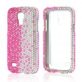 Hot Pink/ Silver Gems Bling Hard Case for Samsung Galaxy S4 Mini