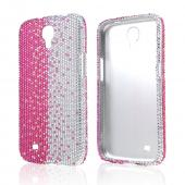 Hot Pink/ Silver Gems Bling Hard Case for Samsung Galaxy Mega 6.3
