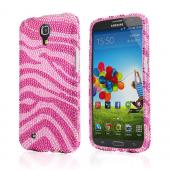 Hot Pink Gems on Baby Pink Bling Hard Case for Samsung Galaxy Mega 6.3