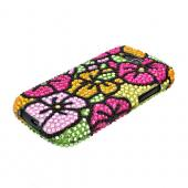 Samsung Galaxy S Blaze 4G Bling Hard Case - Green/ Hot Pink/ Yellow Hawaiian Flowers