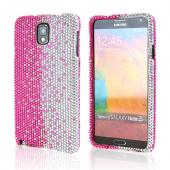 Hot Pink/ Silver Gems Bling Hard Case for Samsung Galaxy Note 3