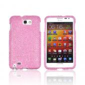 Samsung Galaxy Note Bling Hard Case - Baby Pink