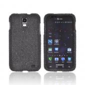 Samsung Galaxy S2 Skyrocket Bling Hard Case - Black