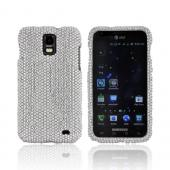 Samsung Galaxy S2 Skyrocket Bling Hard Case - Silver