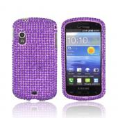 Samsung Stratosphere i405 Bling Hard Case - Purple Gems