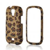 Gold/ Black Leopard Bling Hard Case for Samsung Stratosphere 2