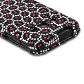 Hot Pink/ Black Leopard Bling Hard Case for Samsung Galaxy Rugby Pro