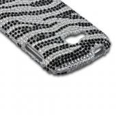 Black/ Silver Zebra Bling Hard Case for Samsung ATIV Odyssey