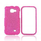 Samsung Transform M920 Bling Hard Case - Hot Pink
