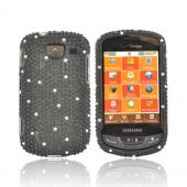 Samsung Brightside U380 Bling Hard Case - Black/ White Gems