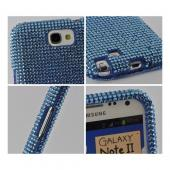 Light Blue Bling Hard Case for Samsung Galaxy Note 2