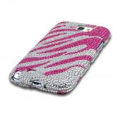 Hot Pink/ Silver Zebra Bling Hard Case for Samsung Galaxy Note 2