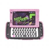 Samsung Sidekick 4G Bling Hard Case - Baby Pink Gems