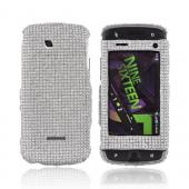 Samsung Sidekick 4G Bling Hard Case - Silver Gems
