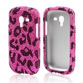 Black Leopard on Pink Bling Hard Case for Samsung Galaxy Exhibit