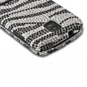 Silver/ Black Zebra Bling Hard Case for Samsung Galaxy S Relay 4G
