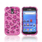 T-Mobile Samsung Galaxy S2 Bling Hard Case - Hot Pink/ Black Leopard on Pink Gems