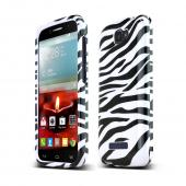 Alcatel One Touch Fierce 2 Slim Fit Hard Cover Case [Black Zebra on White]