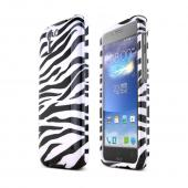 Black Zebra on White Asus PadFone X Hard Case Cover; Perfect fit as Best Coolest Design Plastic cases