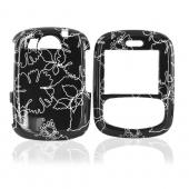 PCD Cricket TXTM8 Hard Case - White Summer Flower Outlines on Black
