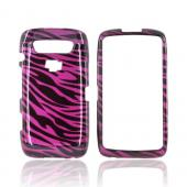 Blackberry Torch 9850 Hard Case - Purple/ Black Zebra
