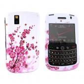 Blackberry Bold 9650 & Tour 9630 Hard Case - Pink Flowers on White