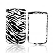 Luxmo Blackberry Torch 9800 Hard Case - Silver/Black Zebra
