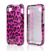 Black Leopard on Hot Pink Hard Case for Blackberry Q5
