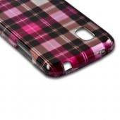 Plaid Pattern of Pink/ Hot Pink/ Brown/ Gray Hard Case for Google Nexus 4