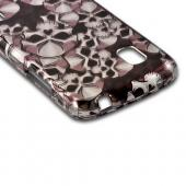 Silver Skulls on Black Hard Case for Google Nexus 4