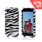 White/ Black Zebra Hard Case for HTC First