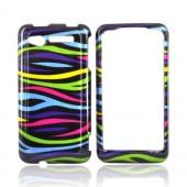 HTC Merge 6325 Hard Case - Colorful Zebra on Black