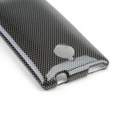 Gray/ Black Carbon Fiber Design Hard Case for HTC 8XT