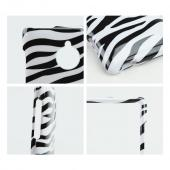 Black Zebra on White Hard Case for HTC 8XT
