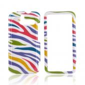 HTC Arrive Hard Case - Rainbow Zebra on White