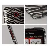 Silver/ Black Zebra Hard Case for HTC Droid DNA