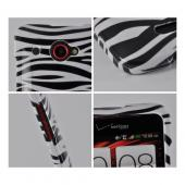 White/ Black Zebra Hard Case for HTC Droid DNA