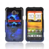HTC EVO 4G LTE Hard Case - Blue Skull