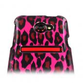HTC EVO 4G LTE Hard Case - Hot Pink/ Black Leopard
