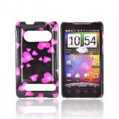 HTC Evo 4G Hard Case - Floating Hearts on Black