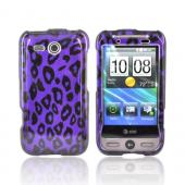 HTC FreeStyle Hard Case - Purple Leopard